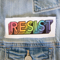 "Rainbow ""Resist"" LGBT Pride Patch"
