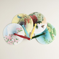 Solid Colors Folding Fans, Set of 4 - World Market