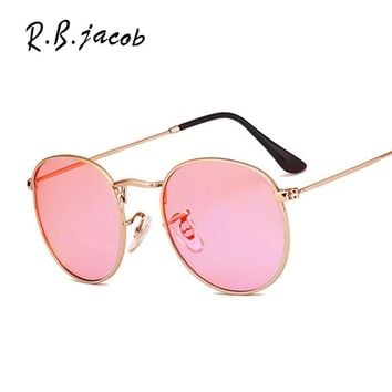 2017 New Style Women Round  Vintage Sunglasses Female Small Size Cute Lady Sun Glasses Clear Mirror High Quality Fashion Eyewear