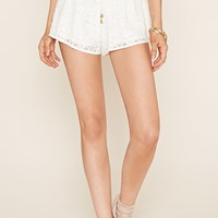 Smocked Lace Shorts