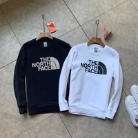 """The North Face"" Men Solid Color All-match Simple Fashion Letter Logo Long Sleeve Sweater Tops"