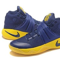 DCCKD9A Nike Kyrie Irving 2 Navy/Yellow Basketball Shoe