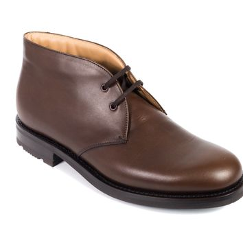 Church's Women Brown Leather Lace-Up Made In Italy Catherine Shoes