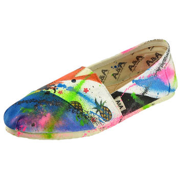 """Splattered Paint Hand-Painted """"Oh Splat"""" Shoes"""