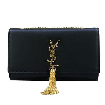 YSL Saint Laurent classic plain gold chain shoulder bag (large)