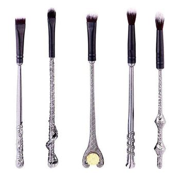 LMFXT3 Ibeauti 5pcs Magic Wand Makeup Brush Set Eye Eyeshadow Blending Brushes Cosmetic Makeup Tool Kit (Black)