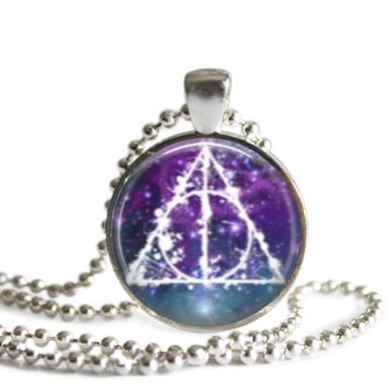 Harry Potter Deathly Hallows Silver Plated Pendant Necklace