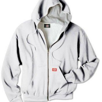 Dickies TW382AGM Men's Thermal Lined Hooded Fleece Jacket, Medium, Ash Gray