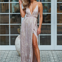 Olympia Maxi Dress Champagne