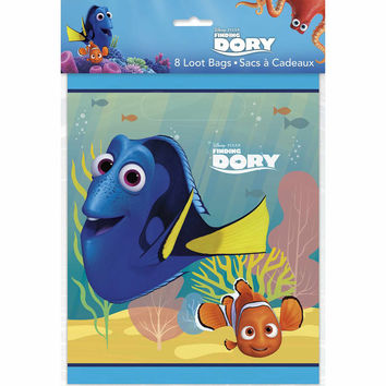 Finding Dory Party Favor Plastic Loot Bags [8 per package]