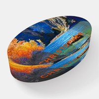 Hikers Haven Two Autumn Colors Glass Paperweight