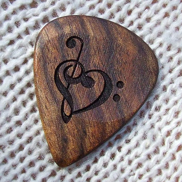 Treble and Bass Clef Heart  Handmade Laser by NuevoWoodcrafts