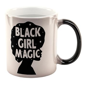 Black History Month Black Girl Magic Afro All Over Heat Changing Coffee Mug