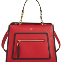 Fendi Small Runaway Calfskin Leather Satchel | Nordstrom