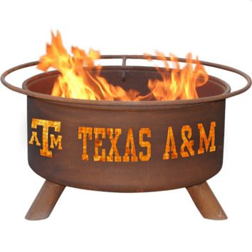 Texas A&M Steel Fire Pit by Patina Products