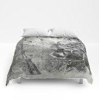Last Time I Saw Paris Comforters by Theresa Campbell D'August Art