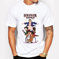 Stranger Things thriller funny cute tee t-shirt casual top SQ12017 tvi