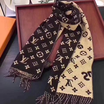 Perfect LV X Supreme Women Velvet Scarf Shawl Silk Scarf