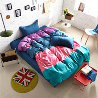 4-Piece Single Sized Quilt and Bed Sheet Set-5 Styles