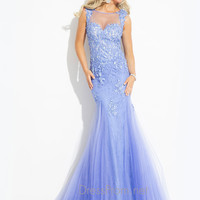 Sheer Back Mermaid Prom Dress By Rachel Allan 6847