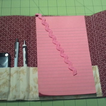 Back to school, Journal Cover, Quilted, with Pockets, Bookmark, Sketchbook, Notebook, Assignment book holder, Notepad Holder
