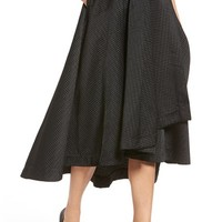 KENDALL + KYLIE Textured Wrap Front Midi Skirt | Nordstrom