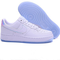 NIKE Women Men Running Sport Casual Shoes Sneakers Air force White laser