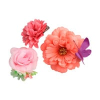 3-pack Hair Clips with Flowers - from H&M