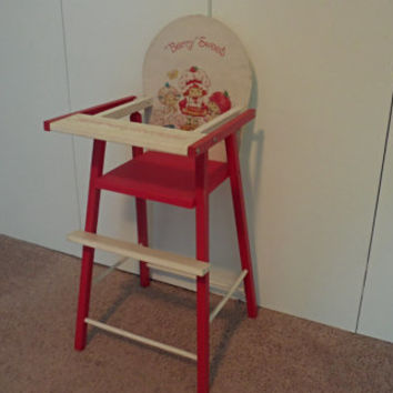 Vintage Strawberry Shortcake Toy High Chair made by the American Greetings Corporation