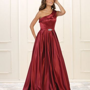 Prom Long Gown Formal Dress One Shoulder