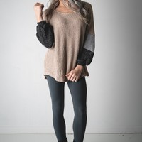 Enjoy The Moment Colorblock Sweater Top