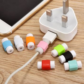 2 Pcs Data Line Protection Case Coil Protective Cover For Charging Cable Phone Charging Case Headphone Winder Gifts New Year