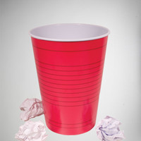 Red Party Cup Trash Can