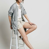 Free People Womens Slim Anorak Jacket