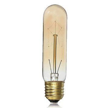 Vintage Edison Bulb E27 T10 40W Antique Filament Lamp Bulb Incandescent Lights Chandelier Lighting Bar Caffee Shop Decor 220V