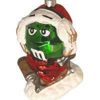 Christmas Ornament - M&m In Santa Hat Officially Licensed