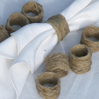Napkin rings 20 pcs - jute twine napkin rings - rustic napkin rings wedding napkin ring
