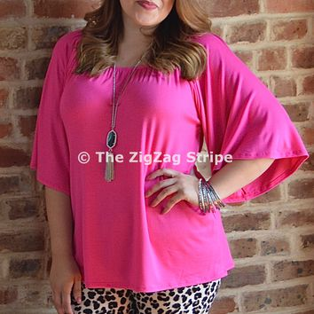 Hot Pink Dobby Top