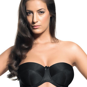 Women Great Coverage Light Padding Multiway Strapless Bra with Underwire