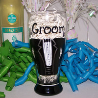 Hand Painted Beer Stein with Tuxedo Painted by ArtworkByKimTyson