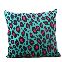 Blue Pillows. Cheetah Print. 14x14. Teen. Girls. Decorative Pillow. Throw Pillow.
