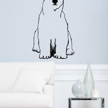 Polar Bear Vinyl Wall Decal Sticker. #OS_MB735