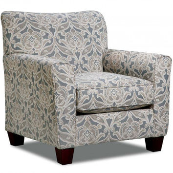 Printed Chair in Gray, Tan, and White | Splendor Gray Accent Chair | American Freight