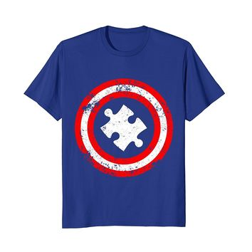 Captain Autism Superhero T-Shirt - Autism Awareness Shirts