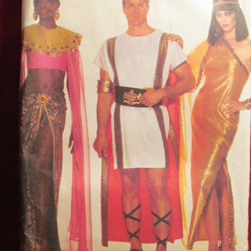 SALE Uncut Butterick Sewing Pattern, 3587! All Sizes/Adults/Men/Women/Roman Greek Costumes/Egyptian Costume/Caesar/Cleopatra/Nefertiti Coupl