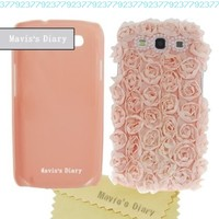 New Handmade 3D Pink Elegant Silk Pearl Hard Case Cover for Samsung Galaxy S3 III I9300