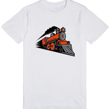 Steam Locomotive Speeding Mascot | T-Shirt | SKREENED