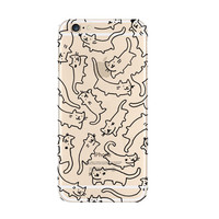 Drawing Cat iPhone 6s 6 Soft Clear Case