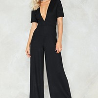 Deep Feelings Plunging Jumpsuit