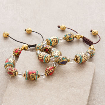 Tibetan Dharma Prayer Wheel Bracelet